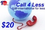 Call4less Rechargeable Plan, international phone cards