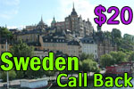 Sweden Call Back Card, international phone cards