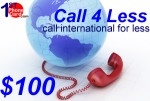 Call4less $300, international phone cards