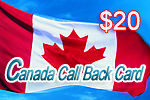 Canada Call Back Card, international phone cards