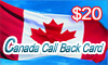 Canada Call Back Card, UK(area code:1,2), UK(area code:1,2),UK(area code:1,2)