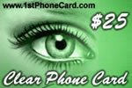 Clear Phone Card, international phone cards